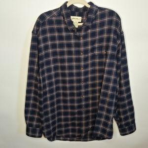Eddie Bauer long sleeve flannel.size xl